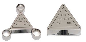 Chrome Executive 3 in 1 Loupe 18mm Triplet