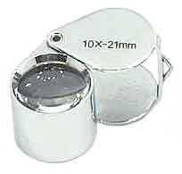 Chrome 8x Round 21mm Loupe