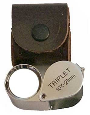 Chrome Executive 10X Round 21mm Loupe Triplet