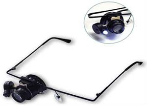 Super Light LED Illuminated Magnifier Visor with 10x Loupe
