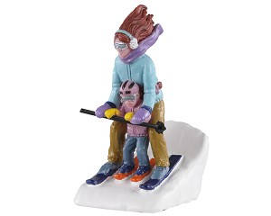 Lemax Village Collection Mommy & Me Ski # 02938
