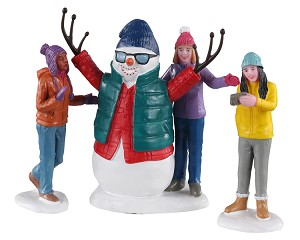 Lemax Village Collection Snowman Selfie Set of 3 # 02940