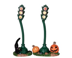 Lemax Spooky Town Traffic Light Battery Operated # 04184