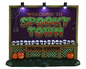 Lemax Spooky Town Spookytown Sign Battery Operated # 04710