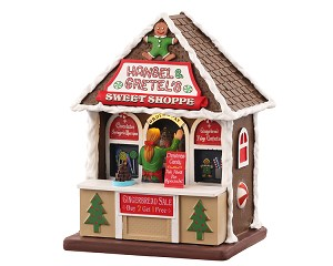 **NO OUTER BOX** Lemax Village Collection Hansel & Gretel's Sweet Shoppe Battery Operated # 04736 **READ DESCRIPTION**