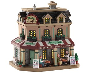 Lemax Village Collection Molly's Corner Caf° # 05687