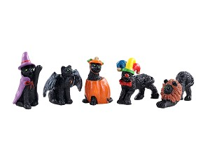 Lemax Spooky Town Halloween Cats Set of 5 # 12014