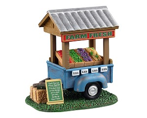 Lemax Village Collection Farm Fresh Vegetable Trailer # 13565