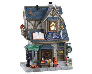 Lemax Spooky Town The Ghost Writer's Antique Bookstore # 15729