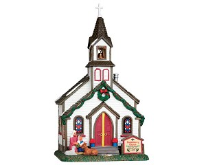 **NO OUTER BOX**  Lemax Village Collection Buckleberry Church # 55003 **READ DESCRIPTION**