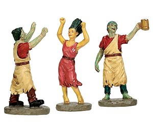 Lemax Spooky Town Terrifying Toga Party Set of 3 # 72488