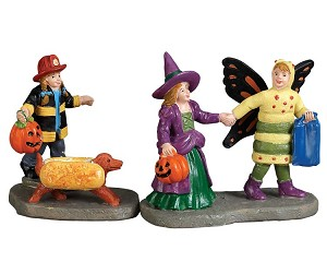 Lemax Spooky Town Ready, Set-Treats! Set Of 2 # 72492