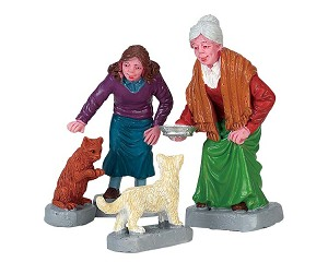 Lemax Village Collection Cream For Kitty Set of 4 # 72497