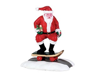 Lemax Village Collection Skateboard Santa # 72498