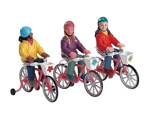 Lemax Village Collection Bike Ride Set of 3 # 72502