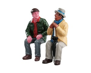 Lemax Village Collection Chatting With Old Friends Set of 2 # 72507
