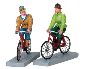 Lemax Village Collection Bloomers And Bicycles Set of 2 # 72514