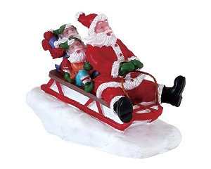 Lemax Village Collection Sledding With Santa # 72549