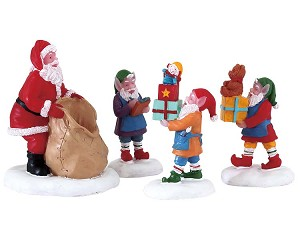 Lemax Village Collection Present Procession Set of 4 # 72553