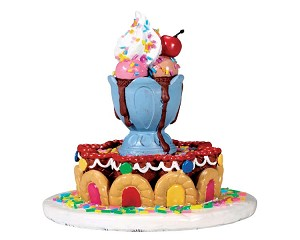 Lemax Village Collection Sundae Fountain # 73292