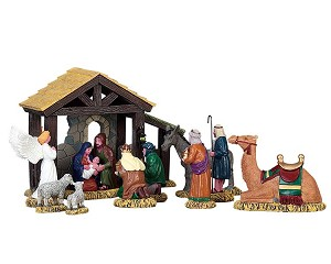Lemax Village Collection First Christmas Set of 11 # 73312