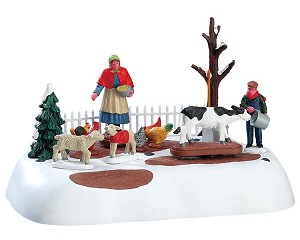 Lemax Village Collection Winter Farm Chores Battery Operated # 74210