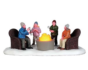 Lemax Village Collection Fire Pit Battery Operated # 74227