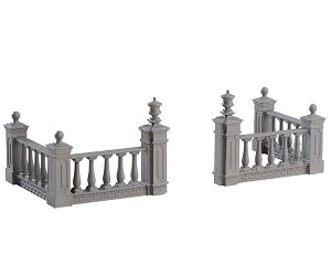 Lemax Village Collection Plaza Fence Set of 4 # 74237