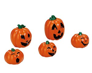 Lemax Spooky Town Happy Pumpkin Family Set of 5 # 74239