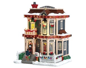 Lemax Village Collection Christmas Eve Party with Adaptor # 75193