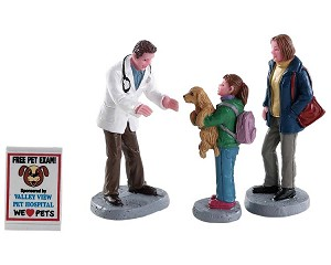 Lemax Village Collection Charley The Vet Set of 4 # 82578