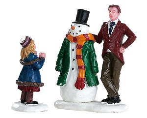 Lemax Village Collection Dad's Snowman Set of 2 # 82585