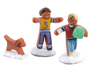 Lemax Village Collection Gumdrop Football Set of 3 # 82591
