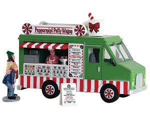 Lemax Village Collection Peppermint Food Truck Set of 3 # 83364