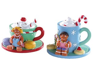 Lemax Village Collection Cocoa and Cookies Set of 2 # 83383
