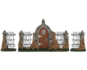Lemax Spooky Town Bramble Gate Set of 3 # 84343