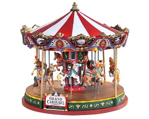 Lemax Village Collection The Grand Carousel with Adaptor # 84349