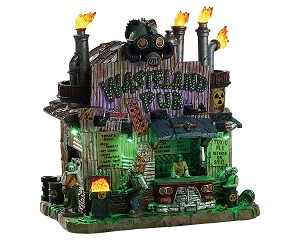 Lemax Spooky Town Wasteland Pub with Adaptor # 85305