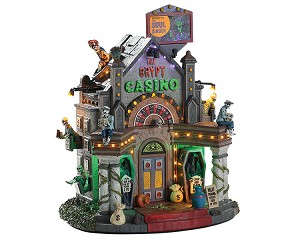 Lemax Spooky Town The Crypt Casino with Adaptor # 85307
