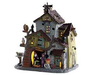 Lemax Spooky Town Witch And Warlock Residence # 85308