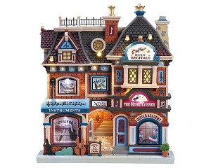 Lemax Village Collection The Music Corner Facade Battery Operated # 85317