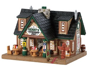**NO OUTER BOX** Lemax Village Collection Gerry's Hamburger Joint # 85327  **READ DESCRIPTION**