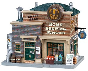 Lemax Village Collection Draft Bros. Home Brewing Supplies # 85329