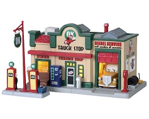 Lemax Village Collection Ok Truck Stop Set of 2 # 85333
