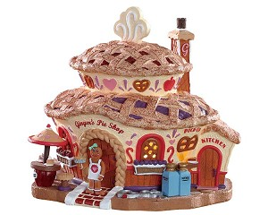 Lemax Village Collection Ginger's Pie Shop Battery Operated # 85437