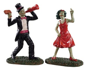 Lemax Spooky Town The Dancing Dead Set of 2 # 92730