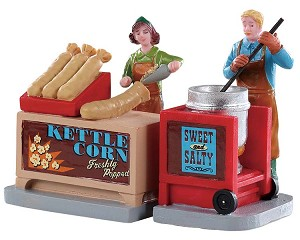 Lemax Village Collection Kettle Corn Stand Set of 2 # 92746