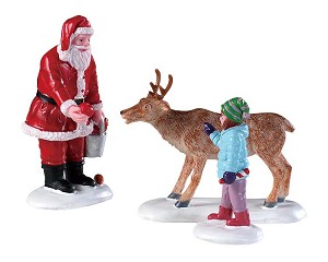 Lemax Village Collection Reindeer Goodies Set of 3 # 92752