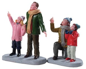 Lemax Village Collection People Admiring Fireworks Set of 2 # 92770