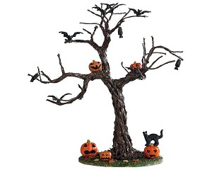 Lemax Spooky Town Batty For Pumpkins Tree # 93418